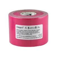 Product DREAM K Pink - Ελαστικός Επίδεσμος Κινησιοθεραπείας - Ροζ/ Φούξια 5cm X 5m base image